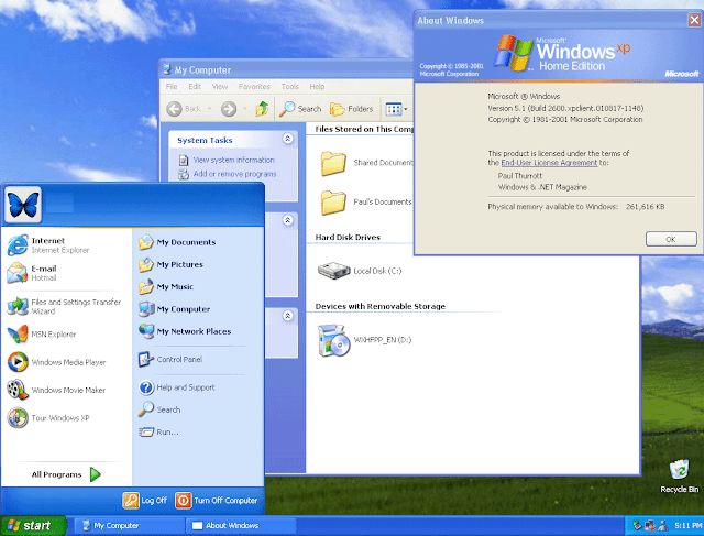 Windows XP may-2018 features