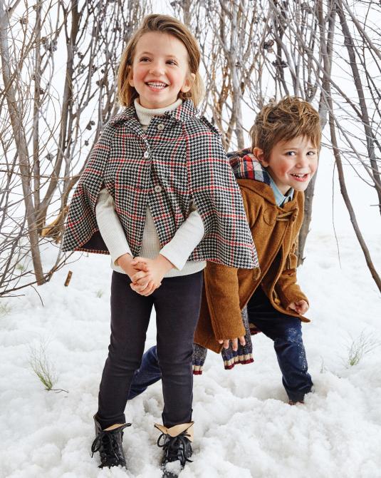 Abrigos 2017 para niños, capas y montgomerys. Moda nenes y nenas invierno 2017.