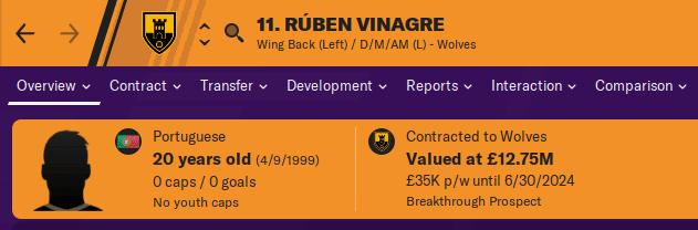 FM20 Wonderkid - Ruben Vinagre