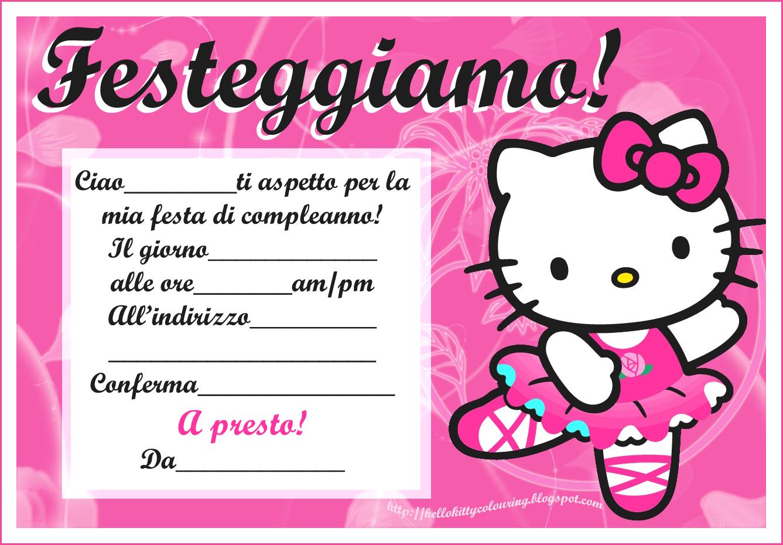 INVITI PER FESTA DI COMPLEANNO GRATIS   HELLO KITTY