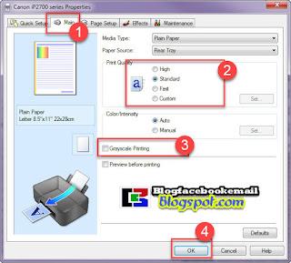 cara setting printer sebelum mencetak document