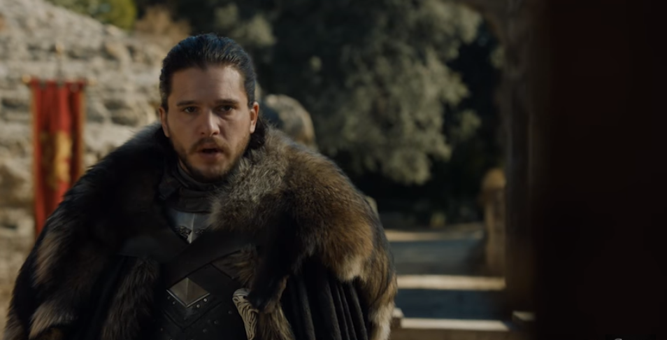 Kit Harington as Jon Snow King of the North in Game of Thrones