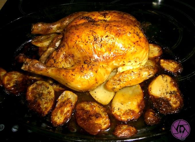 Pollo asado al tomillo
