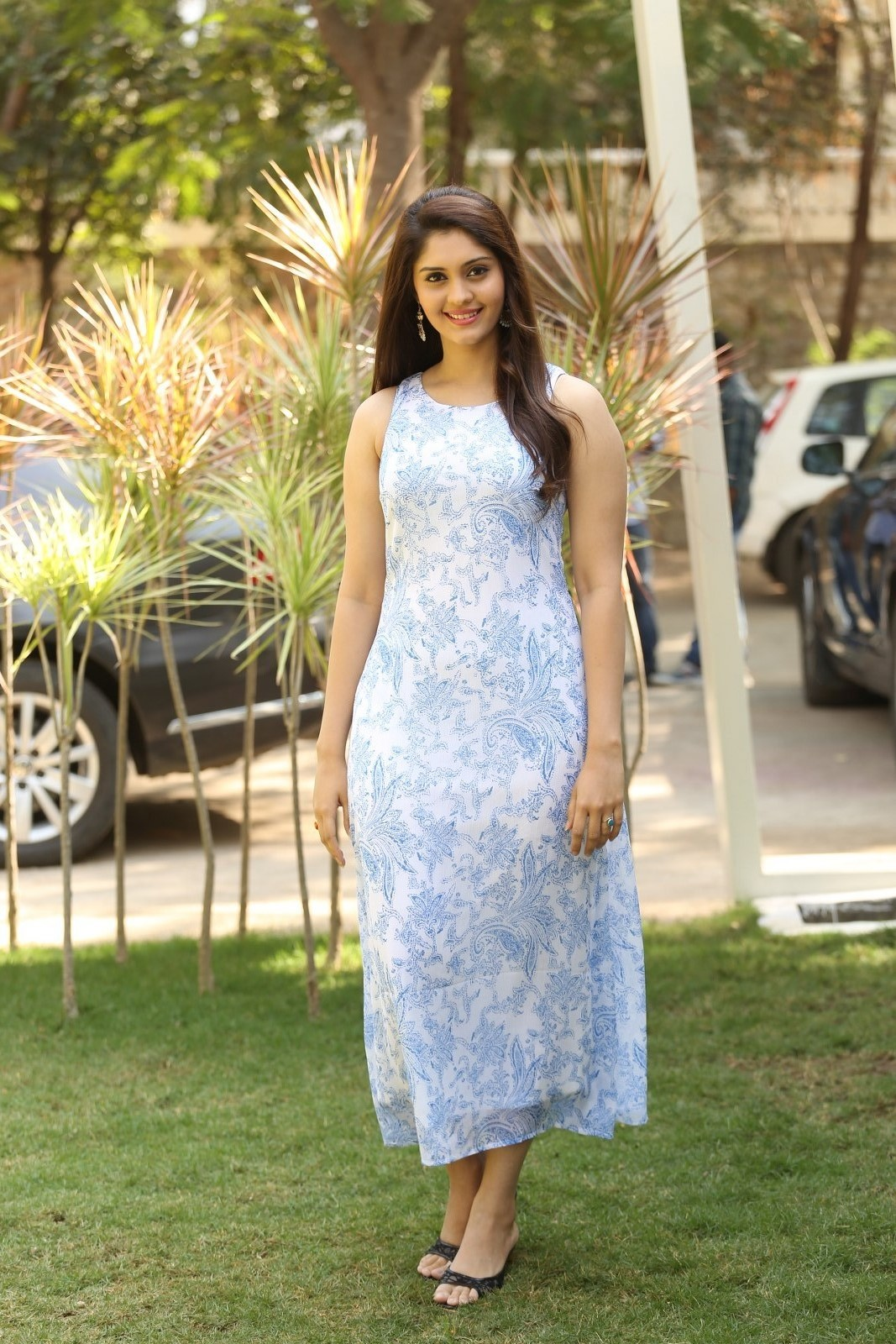 Actress Surabhi Latest Hot Photos In Blue Dress