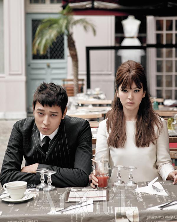 Kang Dong Won and Song Hye Kyo in Paris for Vogue Korea September 2014