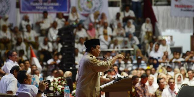 Prabowo Bingung Para Pendukungnya Dijebloskan ke Penjara
