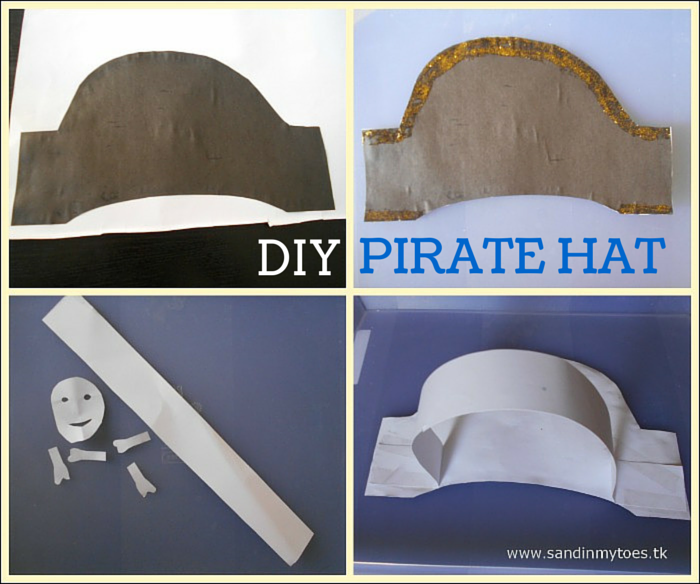 Making your own pirate hat for kids