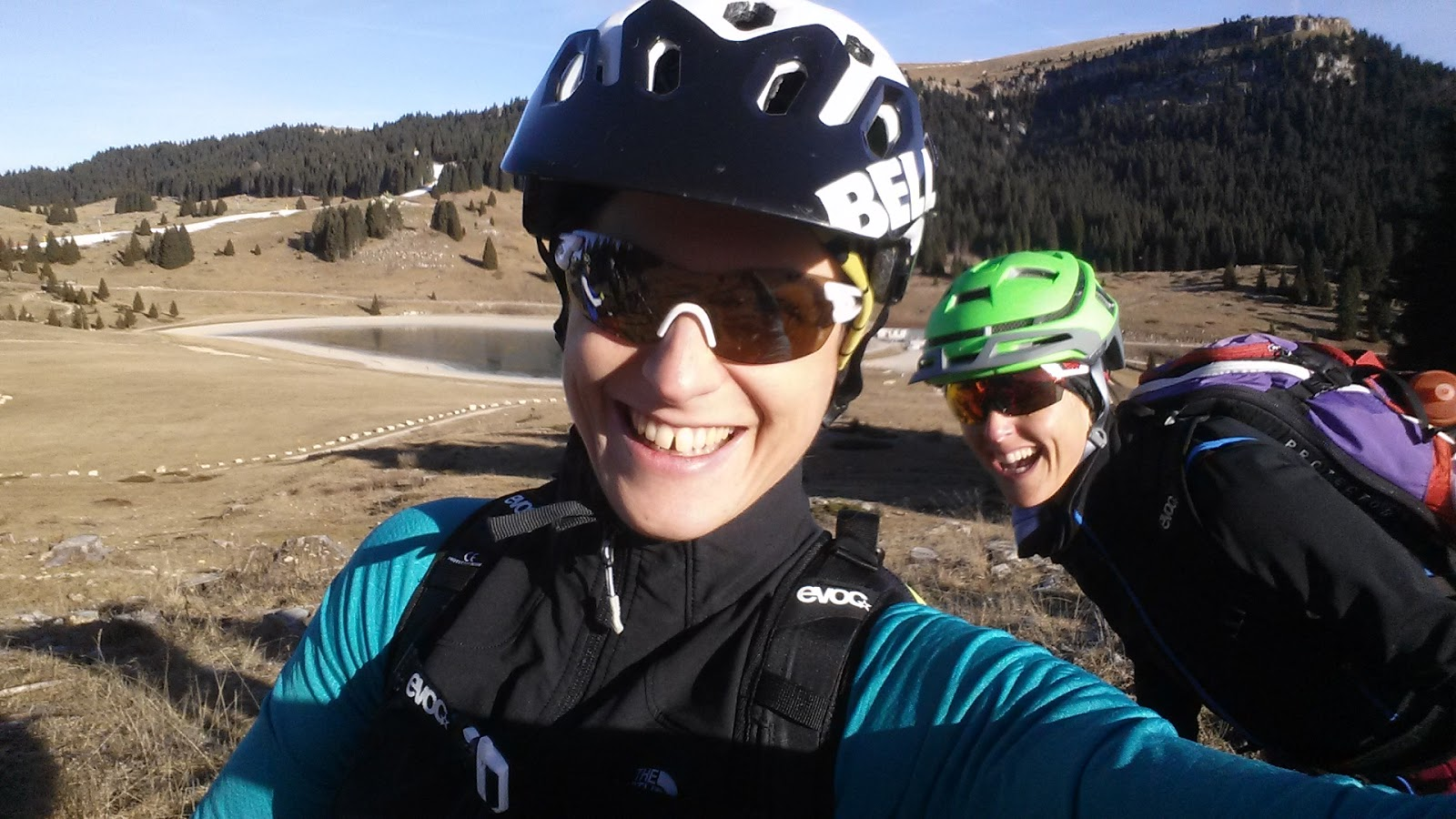 visit trentino, this is Passo Coe near Folgaria and me and Giulia we cycled over there with a fat bike