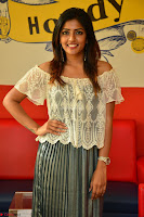 Eesha in a cute deep neck top and Skirt at at Big FM 081.JPG