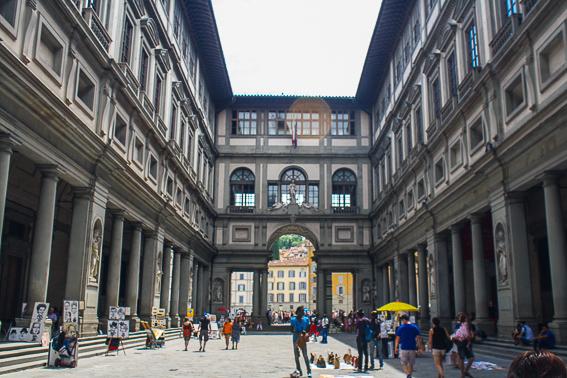 La Galeria de los Uffizi