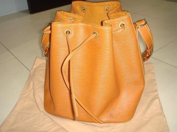 bag-aholics  Louis Vuitton EPI Leather Petit Noe (Brown) For Sale! 55ee39edb41d1