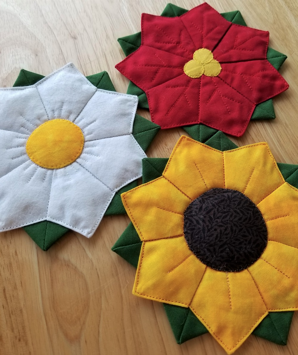Poinsettia-Flower-Coasters