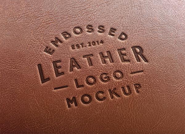 Download Logo Mockup PSD Terbaru Gratis - Leather Stamping Logo Mockup