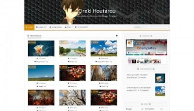 Oreki Houtarou Blogger Templates