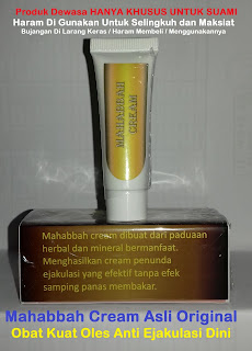 Testimoni Asli Pengguna Obat Kuat Oles jelly Mahabbah Cream