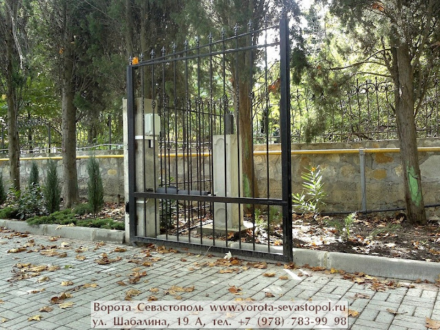 Ворота распашные металлические