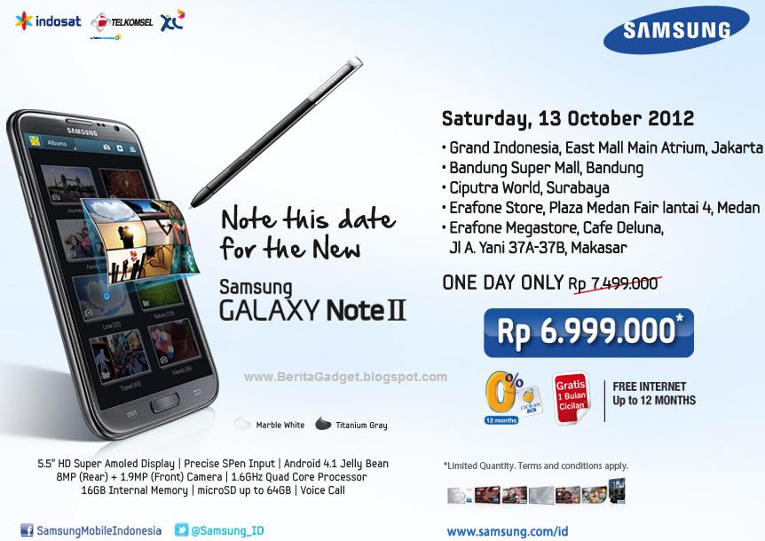 Harga Samsung Galaxy Note 2 Dan Spesifikasi - Berita Gadget