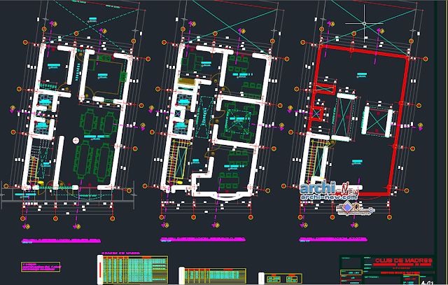 Women's shelter new chimbote in AutoCAD