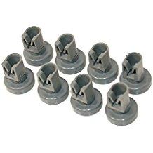 Electrolux Zanussi lavavajillas 50286967000accesorios/cesta de vajilla 8x lavavajillas ruedas cesta superior de la piel por Juno Privileg, Quelle