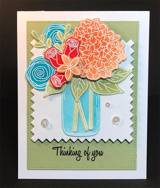 Fan Feature Week | Floral Card by Claire Broadwater using Lovely Blooms stamp set by Newton's Nook Designs #newtonsnook #handmade