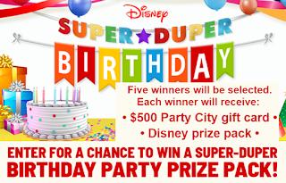Disney Super Birthday Prize Pack Giveaway