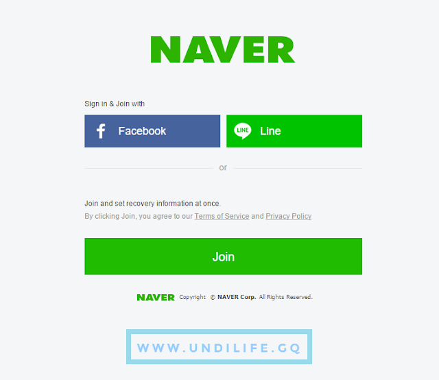 Naver sign up