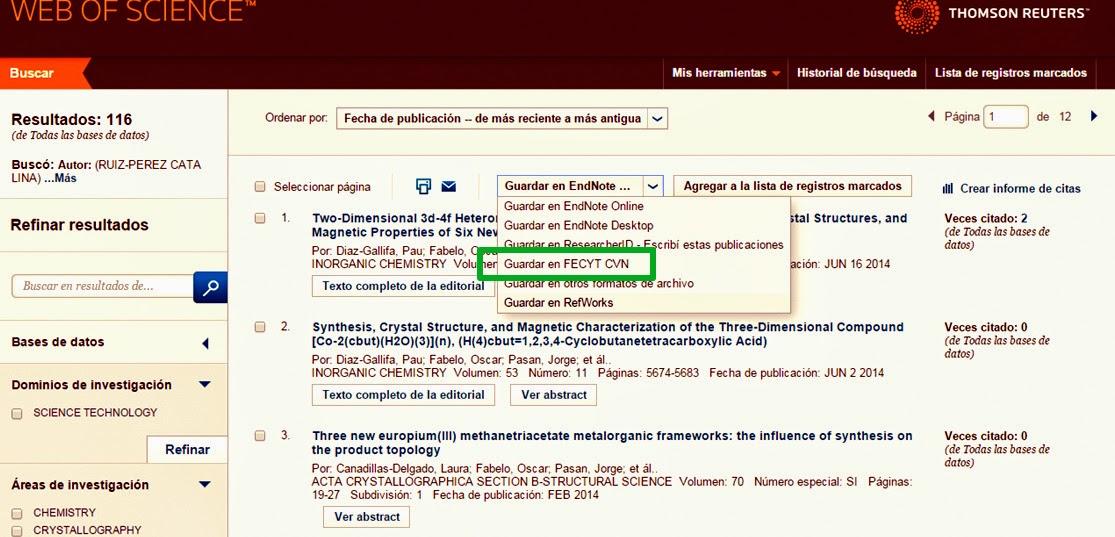 Noticias Y Punto Exportacion De Datos De Wos A Cvn