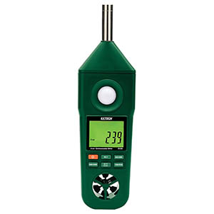 Hygro-Thermo-Anemometer-Light-Sound Meter Extech EN300