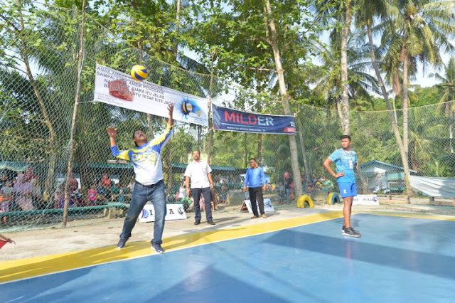 Nurdin Buka Turnamen Volley Ball: Perbanyak Turnamen, Prestasi Mencuat, Silaturahmi Terjalin