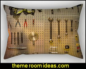 tools Rectangular Pillow  construction theme bedrooms - Lego bedroom furniture - construction trucks theme bedroom  -  Lego theme bedroom decorating - boys bedrooms construction themed LEGO furniture  - under construction building site - construction themed  bedroom decor - Lego bedroom decor ideas - primary color bedroom ideas - Tool belt theme - Kids tool bedding - tool pillows -