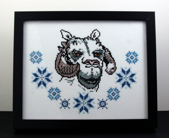 Geek With Curves Stitching A Tauntaun Geeky Cross Stitch Patterns
