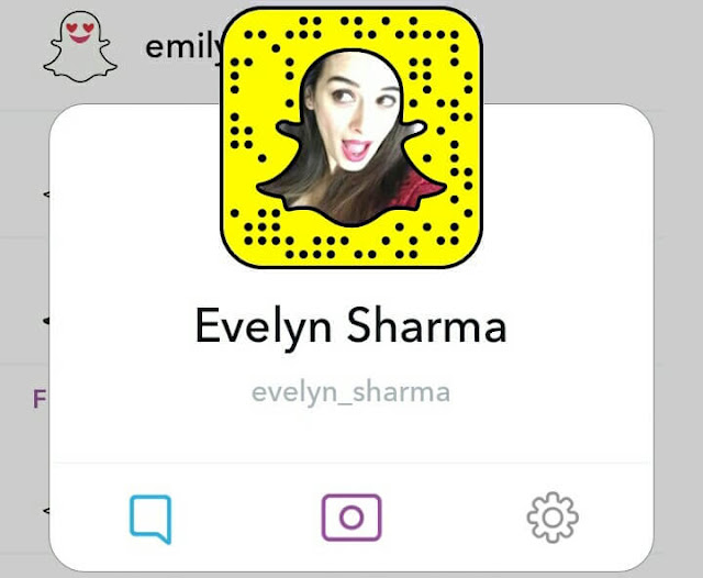 Evelyn Sharma snapchat name photo