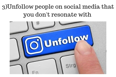 3)Unfollow people