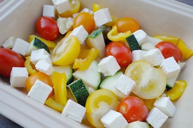 zucchini med fetaost