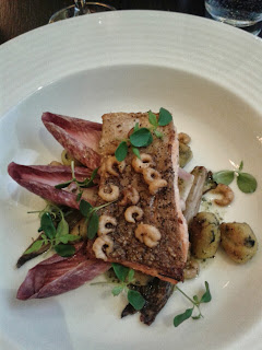 Grosvenor Hotel in London - the pan fried trout