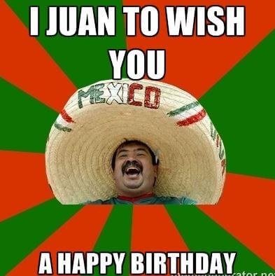 Mexican Happy Birthday Meme