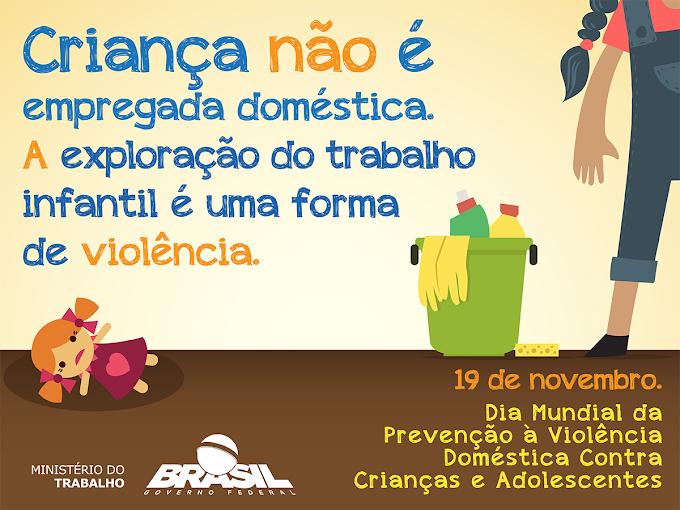 19 de novembro - Dia Mundial da Prevenção à violência Doméstica contra Crianças e Adolescentes
