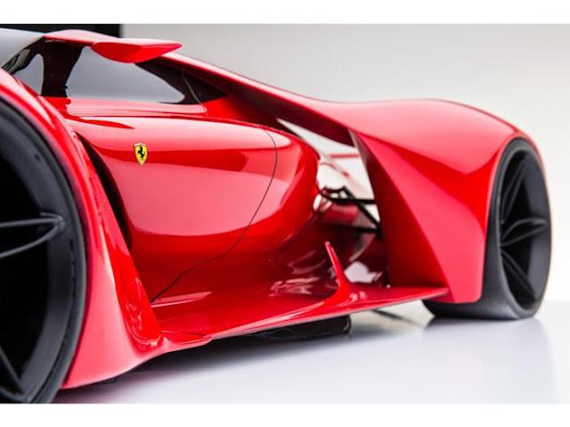 ferrari f80 red super car detail