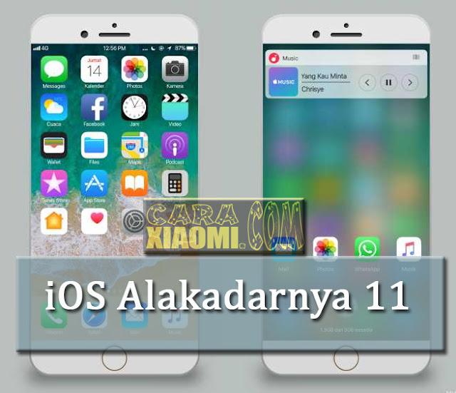 iOS Alakadarnya 11 - Tema Seperti Iphone Untuk Xiaomi Full Tampilan 100% Tanpa Root