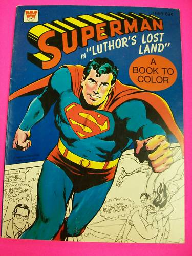 pop culture safari   vintage superman coloring books