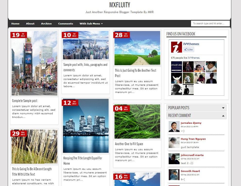 Blogger Blog Templates