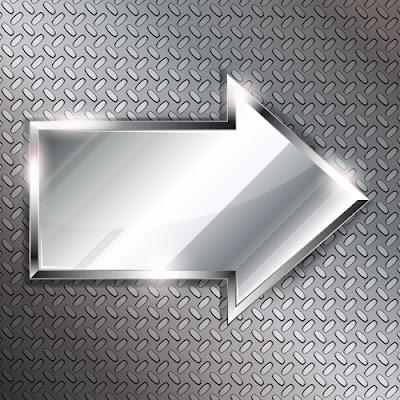 Flecha de metal en vector