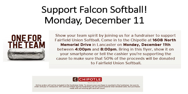 Fairfield Union Falcon Softball Team Chipotle Ad