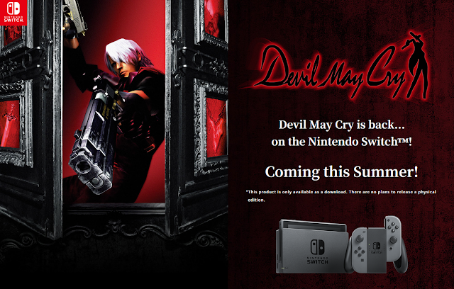 Devil May Cry Nintendo Switch coming this summer digital download only official website CAPCOM