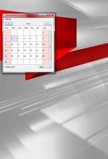 calendar java based program