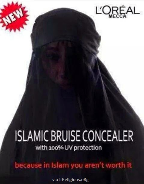 Funny L'Oreal Mecca Islamic Bruise Concealer Joke Picture