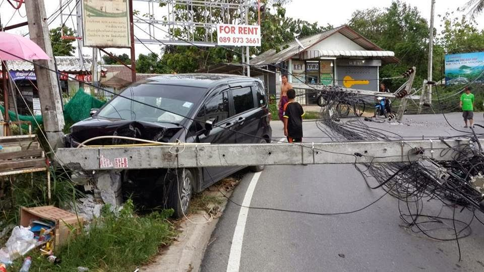 Car accident in Bang Rak