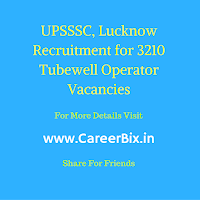 UPSSSC, Lucknow Recruitment for 3210 Tubewell Operator Vacancies