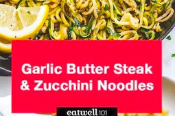 Lemon Garlic Butter Steak with Zucchini Noodles Recipe