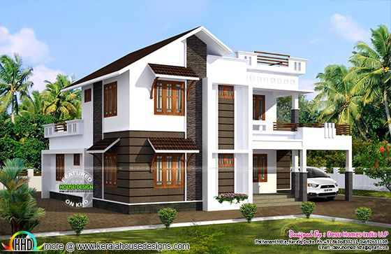 2100 Sq Ft South Facing Vastu House Kerala Home Design And Floor Plans